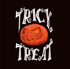 Trick Or Treat Pumpkin Vector Graphics Design-Cre8iveSkill