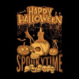 Spooky Time Halloween Skull-Cre8iveSkill