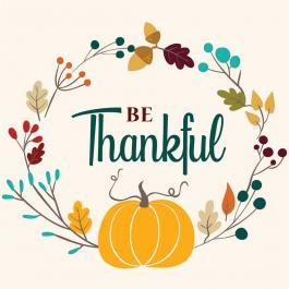 Be Thankful Vector Art
