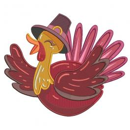 Embroidery Digitized Hatted Turkey