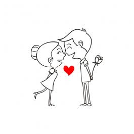 Lineart Couple Love3