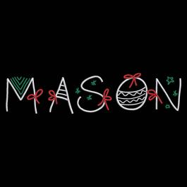 Mason Christmas Ribbon