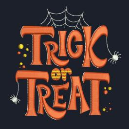 Embroidery design: Trick or Treat