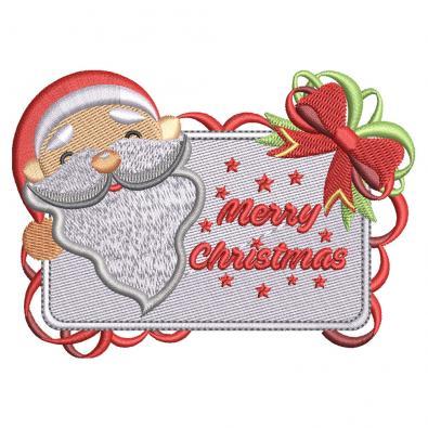 Digitized Santa with Board