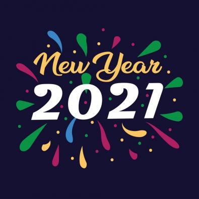 Wishing happy new year 2021 Vector