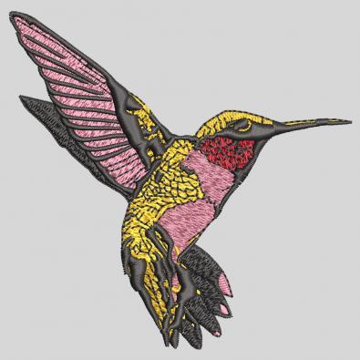 Humming bird embroidery