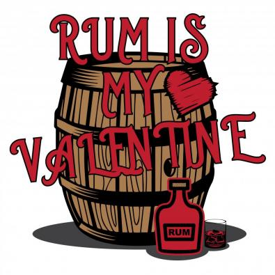 Rum Is My Valentine Vector Graphic