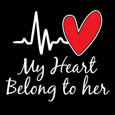 My Heart Belong To Her Vector Art