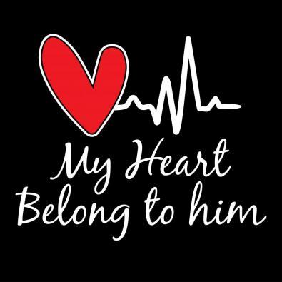 My Heart Belong To Him Vector Art