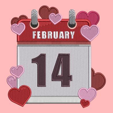 Embroidery Design: February 14