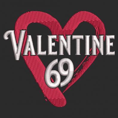 Valentine Day Embroidery Design