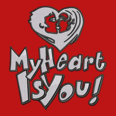 Embroidery Design: My Heart Is You