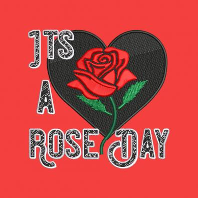 Embroidery Design: It's A Rose Day