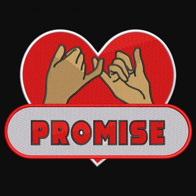 Embroidery Design : Happy Promise Day