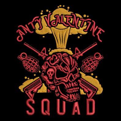 Embroidery Design: Anti Valentine day Squad