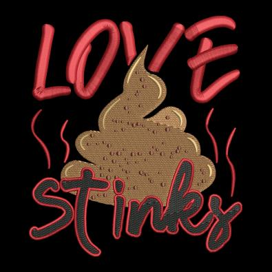 Embroidery Design: Love Stinks