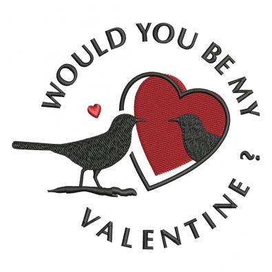 Embroidery Design: Valentine's Love Birds