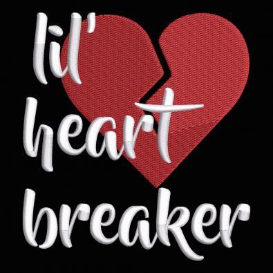 Embroidery Design: Lil Heart Breaker