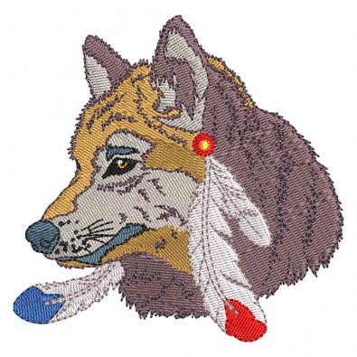 Embroidery Design: Wolf
