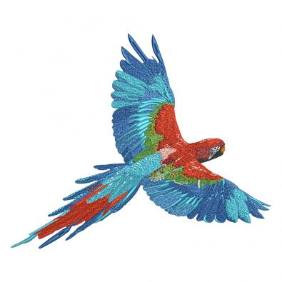 Embroidery Design: Flying Parrot