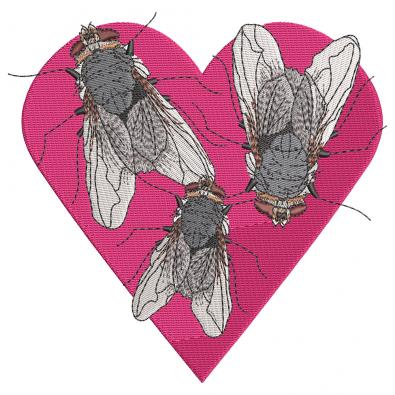 Cre8iveSkill's Embroidery Design Heart Bee