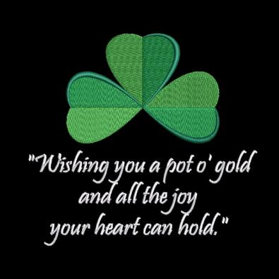 Cre8iveSkill's Embroidery Design st Patrick's Day Wishes