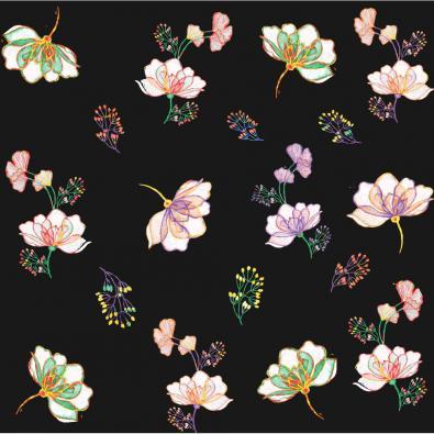 Vector Art: Watercolor Floral Patterns