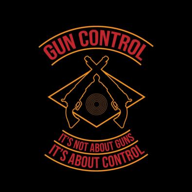 Gun Control Vector Art Design