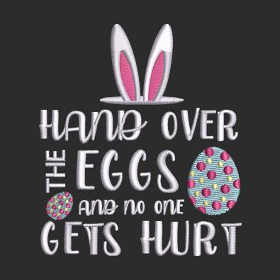 Embroidery Design Hand Over The Eggs