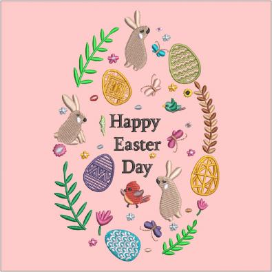 Cre8iveSkill's Embroidery Design Happy Easter