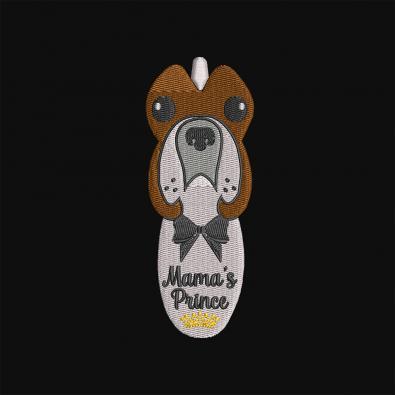 Mama's Prince Embroidery Design
