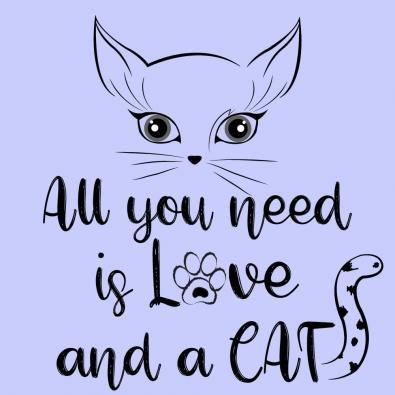 Cat Love Vector Art Design