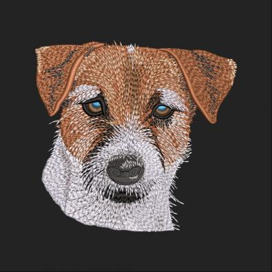 Jack Russell Terrier Dog Embroidery