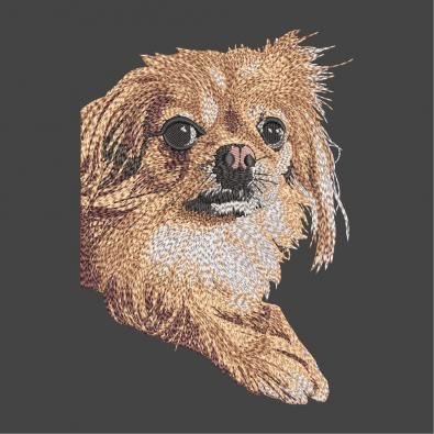 Chow Chow Dog Embroidery Design