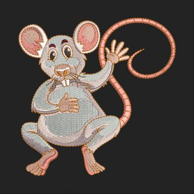 Mouse Embroidery Design