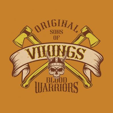 Vikings Skull Vector Art Design