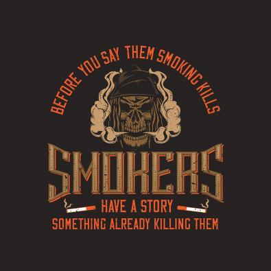 Smoking Kills Vector Design