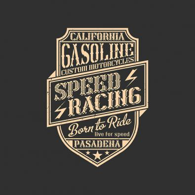 Speed Racing Vector Art Design
