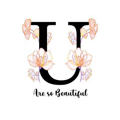 You are Beautiful Vector Art Design