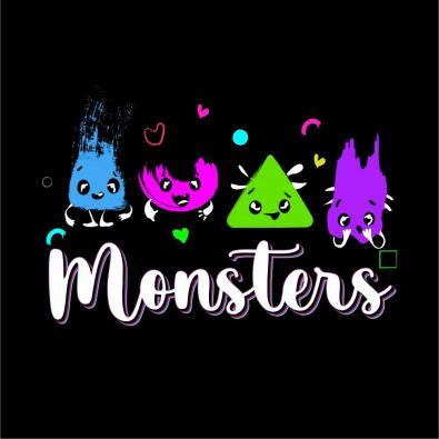 Monsters Vector Design