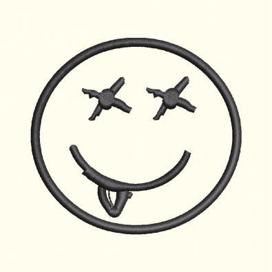 Smiley Applique Embroidery Design
