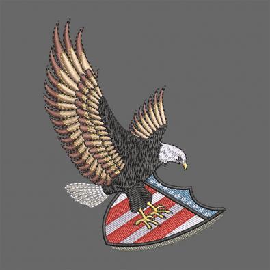 Cre8iveSkill's Embroidery Design Bald Eagle Logo