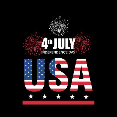 Vector Art USA Independence Day