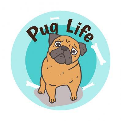 Pug Life Vector Art Design - Cre8iveSkill