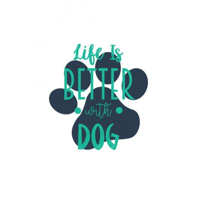 Life With Dog Vector Graphic Design | Cre8iveSkill