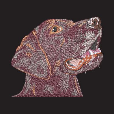Angry Dog Digitized Embroidery Design