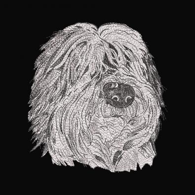 Embroidery Design: Bergamasco Shepherd Face