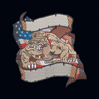Boss Bulldog Flag Embroidery Design - Cre8iveSkill