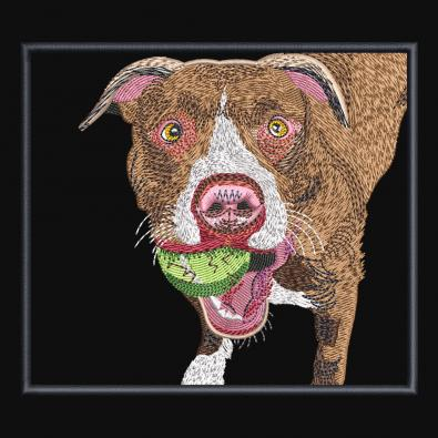 Free Embroidery Design: playing Dog