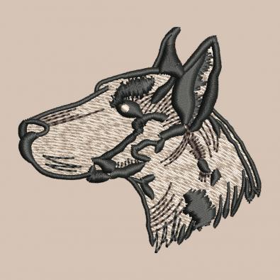 Free Dog Head Machine Embroidery Design